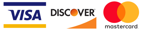 Brucato Power accepts Visa, Discover and Mastercard